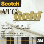 "Scotch ATG Gold 1/4"" adhesive tape refill"