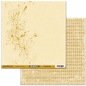 Scribble Scrabble Flower Sprig/Lace Double-sided Printed Paper