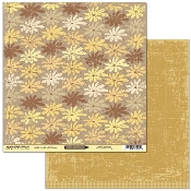 Scribble Scrabble Flower Bed/Honey Double-sided Printed Paper
