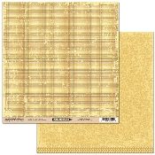 Scribble Scrabble Plaid/YellowPaisley Double-sided Printed Paper