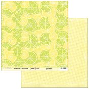 Scribble Scrabble Evelyn's Lemon Lime Printed Paper