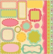 My Little Shoebox Summer Breeze Diecut Sheet