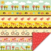 My Little Shoebox Playtime Sunny Side Up Printed Paper