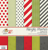 Simple Stories Claus & Co. Simple Basics 12x12 Kit