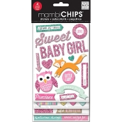 Me & My Big Ideas Chipboard Value Pack - Sweet baby Girl